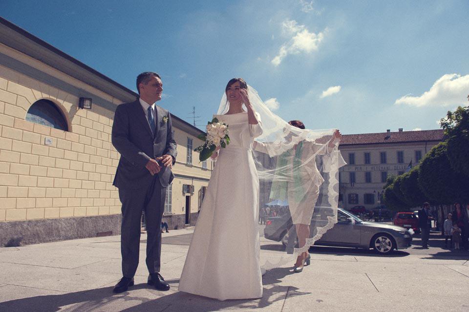 Arrivo della sposa in chiesa,Turate
