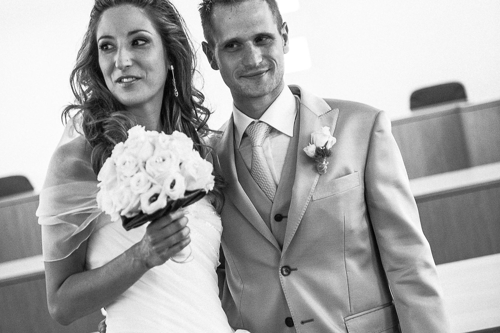 Gli sposi Elisa e Pietro